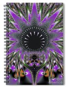 Black Magic Wand Fractal Spiral Notebook