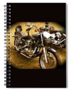 Black Motorcycle  Spiral Notebook