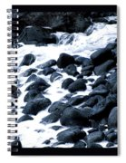 Black Rocks Along The Puna Coast Spiral Notebook