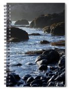 Black Rocks And Sea  Spiral Notebook