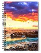 Black Sand Sunset Spiral Notebook