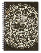 Black Sepia Oreo Spiral Notebook