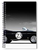 Black Speedster Spiral Notebook