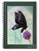 Black Swallowtail Butterfly By George Wood Spiral Notebook