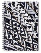 Black Thai Fabric 03 Spiral Notebook