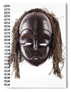 Black Tribal Face Mask On Isolated On White Spiral Notebook