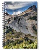 Black Tusk Over Alpine Meadows Spiral Notebook