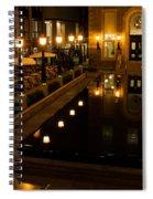 Black Water Golden Lights Spiral Notebook
