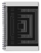 Black White Gray Square Geometric Spiral Notebook