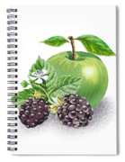 Blackberries And Green Apple Spiral Notebook