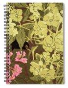 Blackbird In The Hellebores Spiral Notebook