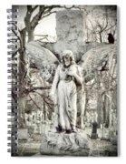 Blackbird On Angel Cross Spiral Notebook
