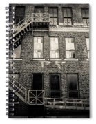 Blackened Fire Escape Spiral Notebook