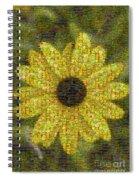 Blackeyed Suzy Mosaic Spiral Notebook