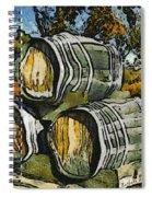 Blackjack Winery Wine Barrels Spiral Notebook