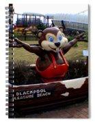 Blackpool Pleasure Beach Lancashire England Spiral Notebook