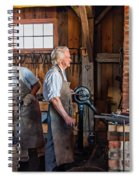 Blacksmith And Apprentice 2 Spiral Notebook