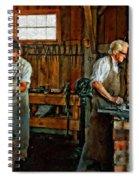 Blacksmith And Apprentice Impasto Spiral Notebook