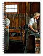 Blacksmith And Apprentice Spiral Notebook