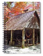 Blacksmith Shop In The Fall Spiral Notebook