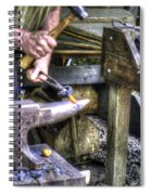 Blacksmith Working Iron V1 Spiral Notebook