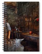 Blacksmith - Working The Forge  Spiral Notebook