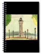 Blackwell Island Lighthouse Ny Chart Map Art Spiral Notebook