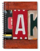 Blake License Plate Name Sign Fun Kid Room Decor Spiral Notebook