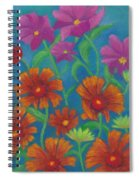 Blanket Flowers And Cosmos Spiral Notebook
