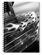 Blazing A Trail - Ford Model A 1929 In Black And White Spiral Notebook