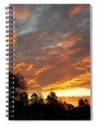 Blazing Christmas Sunset Spiral Notebook