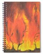 Blazing Fire Spiral Notebook