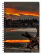 Blazing Sunset II Spiral Notebook
