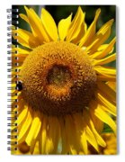 Blazing Yellow Sunflower Spiral Notebook