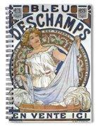 Bleu Deschamps Spiral Notebook