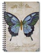 Bleu Papillon-a Spiral Notebook