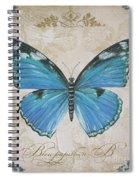 Bleu Papillon-b Spiral Notebook