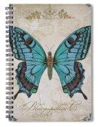 Bleu Papillon-c Spiral Notebook