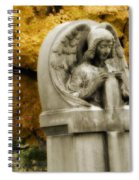 Blissful Angel In Autumn Spiral Notebook