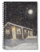 Blizzard At The Cabin Spiral Notebook