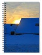 Blizzard Sunrise Spiral Notebook