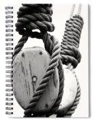 Block And Tackle Of Old Sailing Ship Spiral Notebook