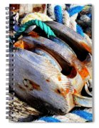 Block And Tackle - Square - Ropes Spiral Notebook