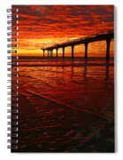 Blood Red Dawn Spiral Notebook