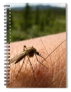 Blood Thirsty Mosquito On Human Arm Spiral Notebook