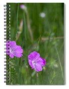 Bloody Cranesbill Wild Flowers Spiral Notebook