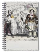 Bloomer Cartoon, C1851 Spiral Notebook