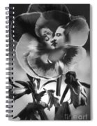 Bloomin' Kiss Vintage Art Bw Spiral Notebook