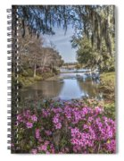 Blooming Azaleias At Middleton Place Plantation Spiral Notebook