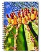 Blooming Barrel Cactus By Diana Sainz Spiral Notebook